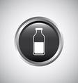 bottle button design vector image