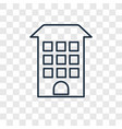building concept linear icon isolated on vector image