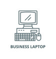 business laptop line icon linear concept vector image vector image
