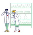 chemist scientists characters in white coats