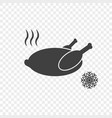 chicken icon with a hot and frozen symbol vector image vector image