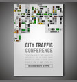 city traffic poster vector image vector image