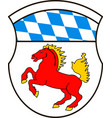 coat of arms of erding is a district in bavaria vector image
