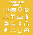 computer icons concept for vector image vector image