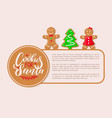 cookies santa claus gingerbread biscuits poster vector image vector image