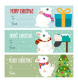 cute flat design christmas labels collection for vector image vector image