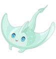 Cute Stingray vector image vector image