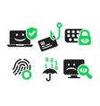 cyber security icon set vector image vector image