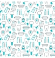 Dental seamless pattern Linear icons Flat design vector image vector image