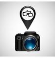digital photo camera glasses 3d vector image vector image