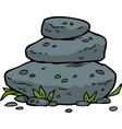 doodle stacked stones vector image vector image