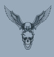 eagle with a skull in claws tattoo style vector image vector image