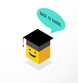 Emoticon student - back to school vector image