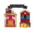 farm houses vector image vector image