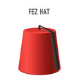 fez hat national headwear of people vector image
