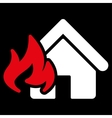 Fire Damage icon from Business Bicolor Set vector image vector image