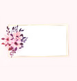 floral flower frame with text space design vector image vector image