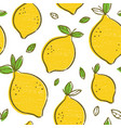 frash lemons modern beauty seamless vector image vector image