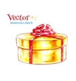 Gift box Watercolor vector image