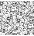 graphic anemones pattern vector image vector image