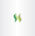 green letter n logo icon element vector image vector image