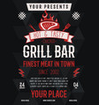 grill bar flyer barbecue party brochure bbq vector image