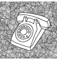 Hand drawing old phone vector image vector image