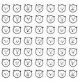 hand drawn pattern cats emotions vector image