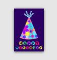 happy birthday card closeup vector image
