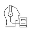 head headphone and e book human skill development vector image