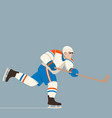 hockey player flat style vector image vector image
