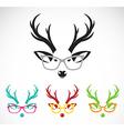 images of deer wearing glasses vector image