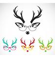 images of deer wearing glasses vector image vector image