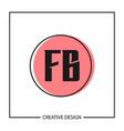 initial letter logo fb template design vector image