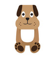 isolated stuffed dog toy vector image