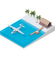 isometric tropical resort vector image vector image