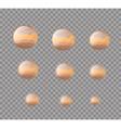 Jupiter Planet Jupiter isolated Set planet Jupiter vector image