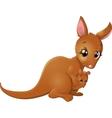 Kangaroo with baby vector image