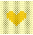 Knitted heart seamless pattern vector image vector image