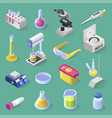 laboratory equipment isometric design vector image vector image
