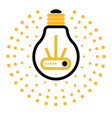 light bulb outline icons with dots around vector image vector image