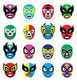 Lucha libre luchador mexican wrestling masks icon vector image vector image