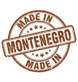 made in montenegro brown grunge round stamp vector image vector image