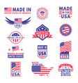made in usa flag america american states vector image