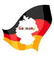 map in german flag vector image