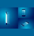 mobile mockup vector image