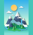 nature landscape background snowy mountain tops vector image vector image