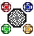 octagonal logo template in celtic knots style vector image