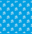 om symbol hinduism pattern seamless blue vector image