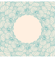 Orchid round frame background vector image